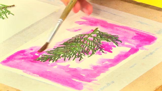 สอนศิลป์ - โปสการ์ดใบไม้ล่องหน