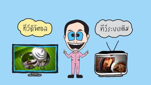 คู่ซี้ทีวีดิจิตอล - เสาก้างปลากับทีวีดิจิตอล