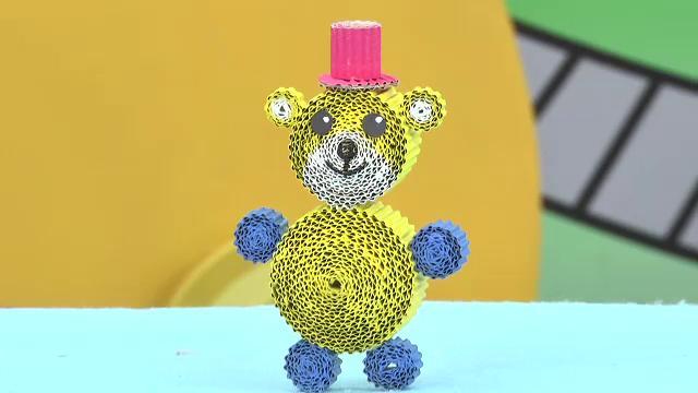 สอนศิลป์ - หมีกระดาษลูกฟูก