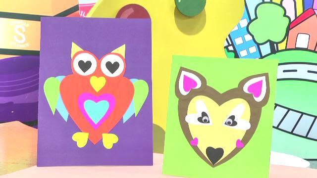 สอนศิลป์ - นกฮูกรูปหัวใจ
