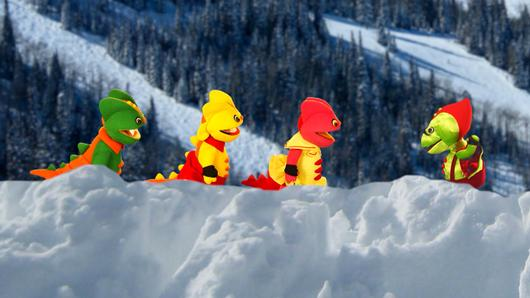 TataTitiToto ไดโนจอมป่วน - หิมะถล่มผาสามพี่น้อง