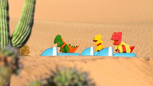 TataTitiToto ไดโนจอมป่วน - ท่องทะเลทราย