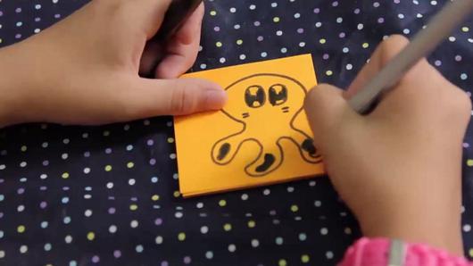 จดหมายไขลาน - ทำการ์ตูน