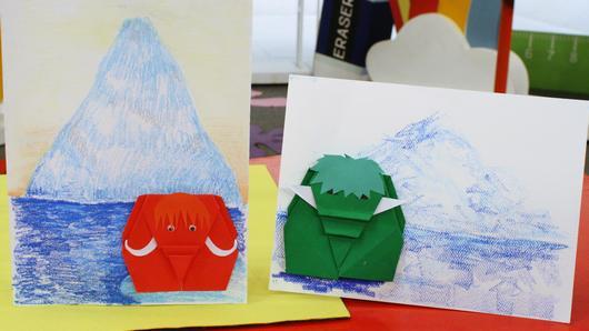 สอนศิลป์ - ช้างแมมมอทงวงยาว