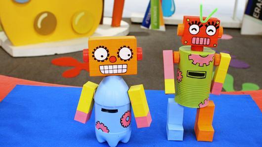 สอนศิลป์ - กระปุกออมสินหุ่นยนต์