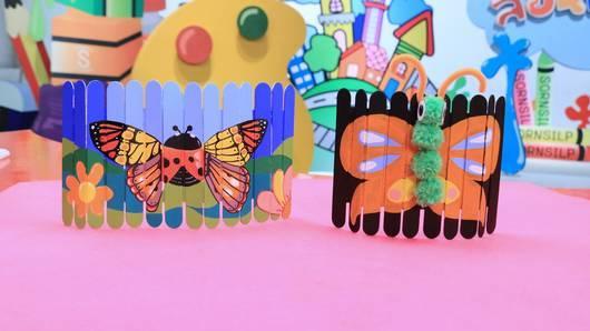 สอนศิลป์ - ผีเสื้อไม้ไอศกรีม
