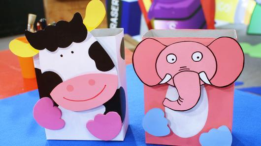 สอนศิลป์ - กล่องใส่ของช้างน้อย