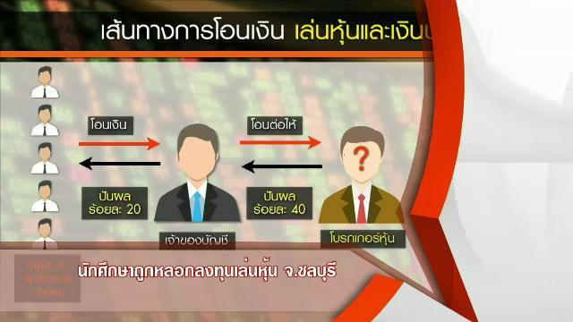 สถานีประชาชน - นักศึกษาถูกหลอกลงทุนเล่นหุ้น จ.ชลบุรี