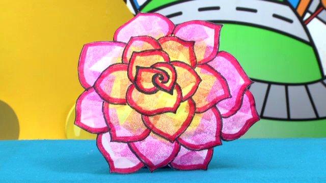 สอนศิลป์ - ดอกกุหลาบสีสวย