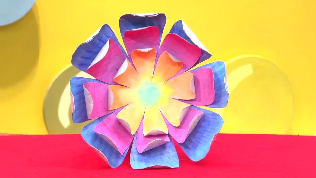 สอนศิลป์ - ดอกไม้จานกระดาษ