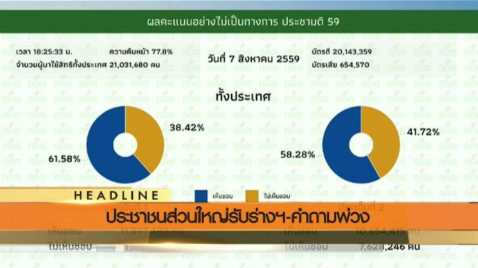 ข่าวค่ำ มิติใหม่ทั่วไทย - ประเด็นข่าว (7 ส.ค. 59)