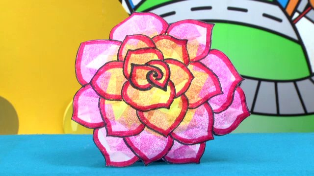 ผึ้งน้อยมหัศจรรย์ - ดอกกุหลาบสีสวย