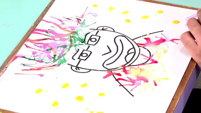 สอนศิลป์ - เป่าสีแสนสนุก