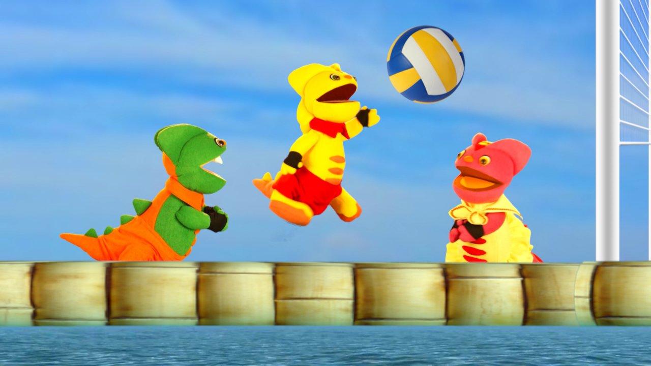 TataTitiToto ไดโนจอมป่วน - แข่งวอลเลย์บอลกลางน้ำ