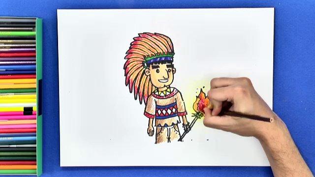 สอนศิลป์ - อินเดียนแดง