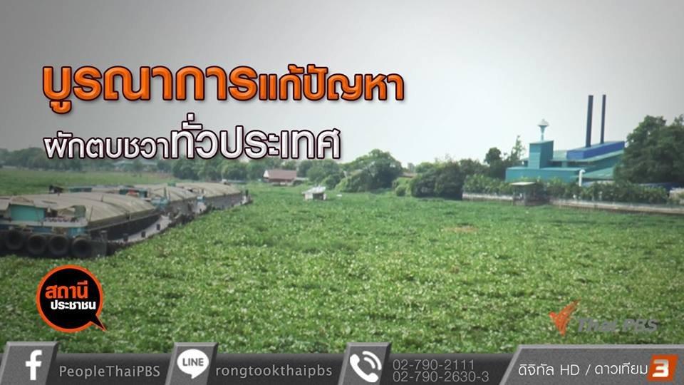 สถานีประชาชน - บูรณาการแก้ปัญหาผักตบชวาทั่วประเทศ