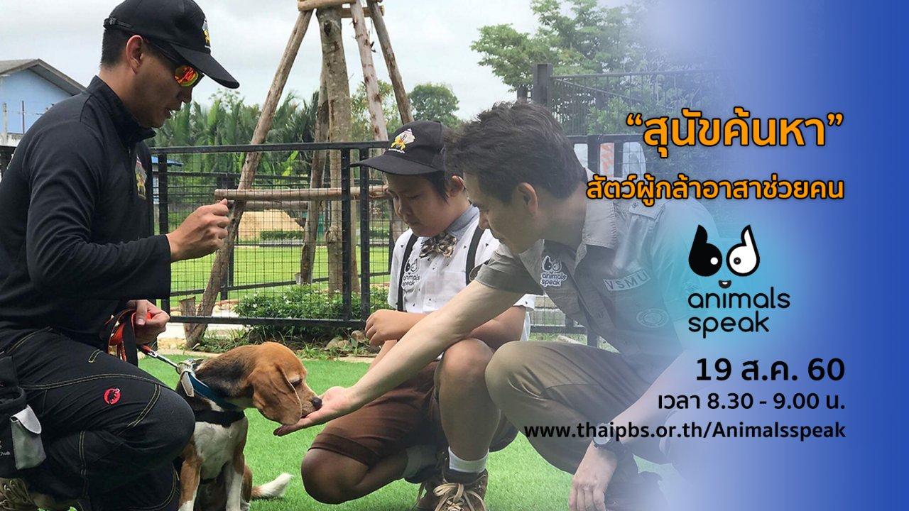 """Animals Speak - """"สุนัขค้นหา"""" สัตว์ผู้กล้าอาสาช่วยคน"""