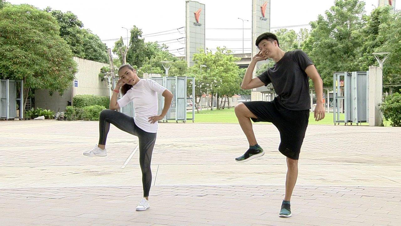 ข.ขยับ - ท่าฝึกเพิ่มกล้ามท้องแบบยืน