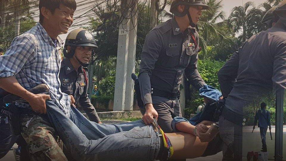 สถานีประชาชน - ชายมีอาการคล้ายเมายาเสพติดถือมีดบุกไทยพีบีเอส