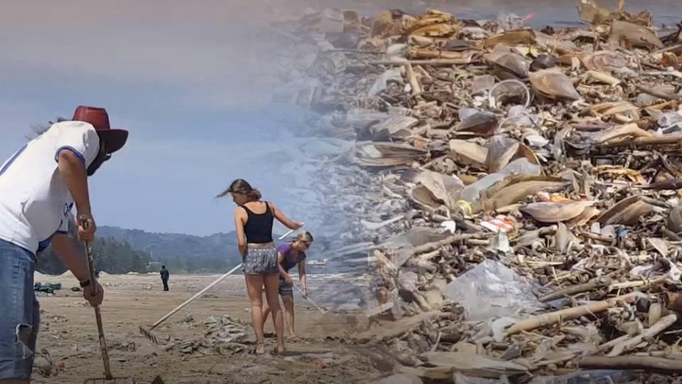 ร้องทุก(ข์) ลงป้ายนี้ - ซากหอยเน่าส่งกลิ่นเหม็น ชายหาดวนอุทยานปราณบุรี จ.ประจวบคีรีขันธ์