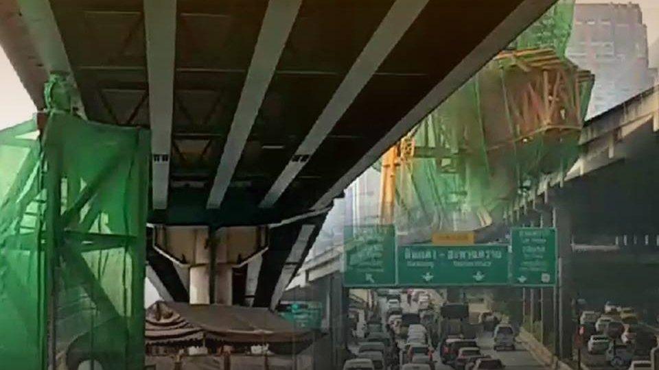 ร้องทุก(ข์) ลงป้ายนี้ - ปิดซ่อมแซมสะพานข้ามแยกลาดพร้าว กทม.