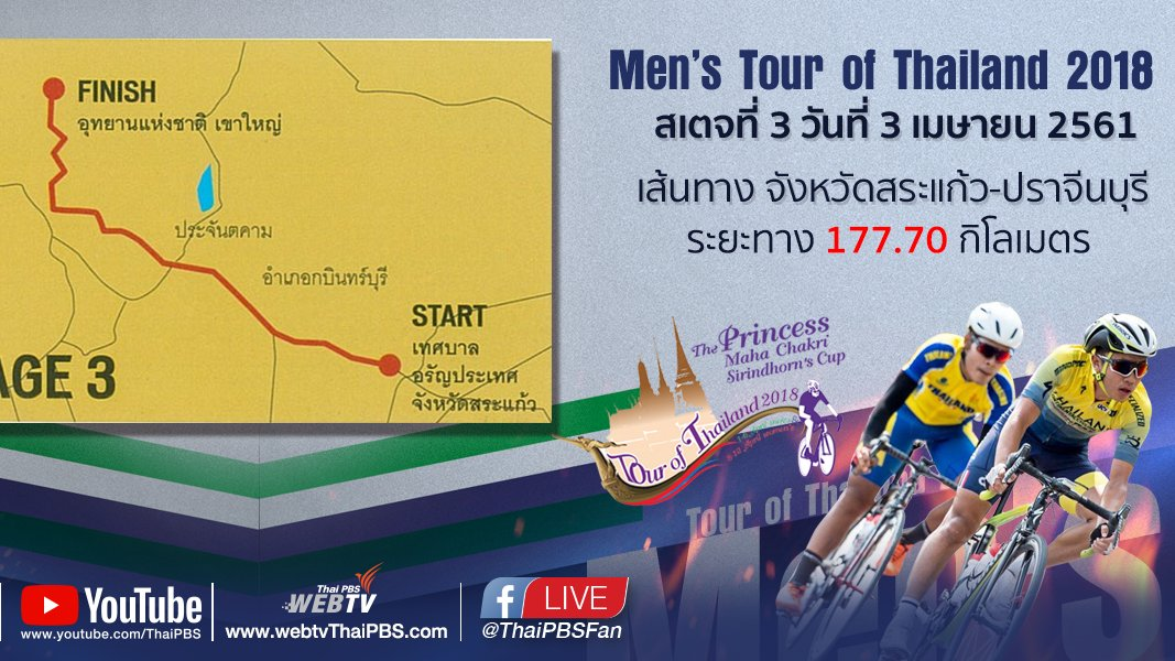 ทัวร์ ออฟ ไทยแลนด์ - Men's Tour of Thailand 2018 : สเตจที่ 3