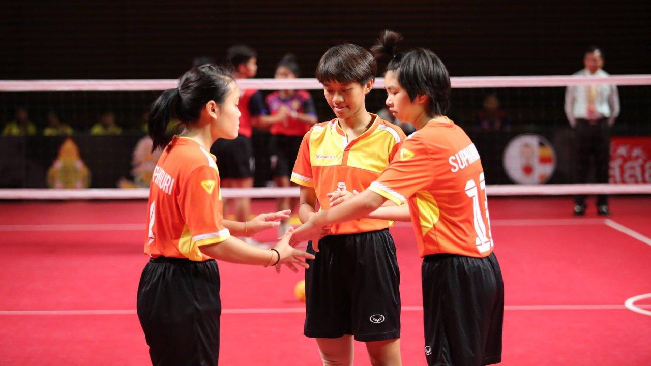 Thai PBS Youth Sepak Takraw Girl Series 2018 - โรงเรียนเบญจมราชูทิศ ราชบุรี vs โรงเรียนกีฬาจังหวัดชลบุรี