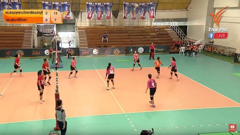Thai PBS Girls Volleyball Super Series 2018 - โรงเรียนสวนกุหลาบวิทยาลัยนนทบุรี vs โรงเรียนสุรนารีวิทยา