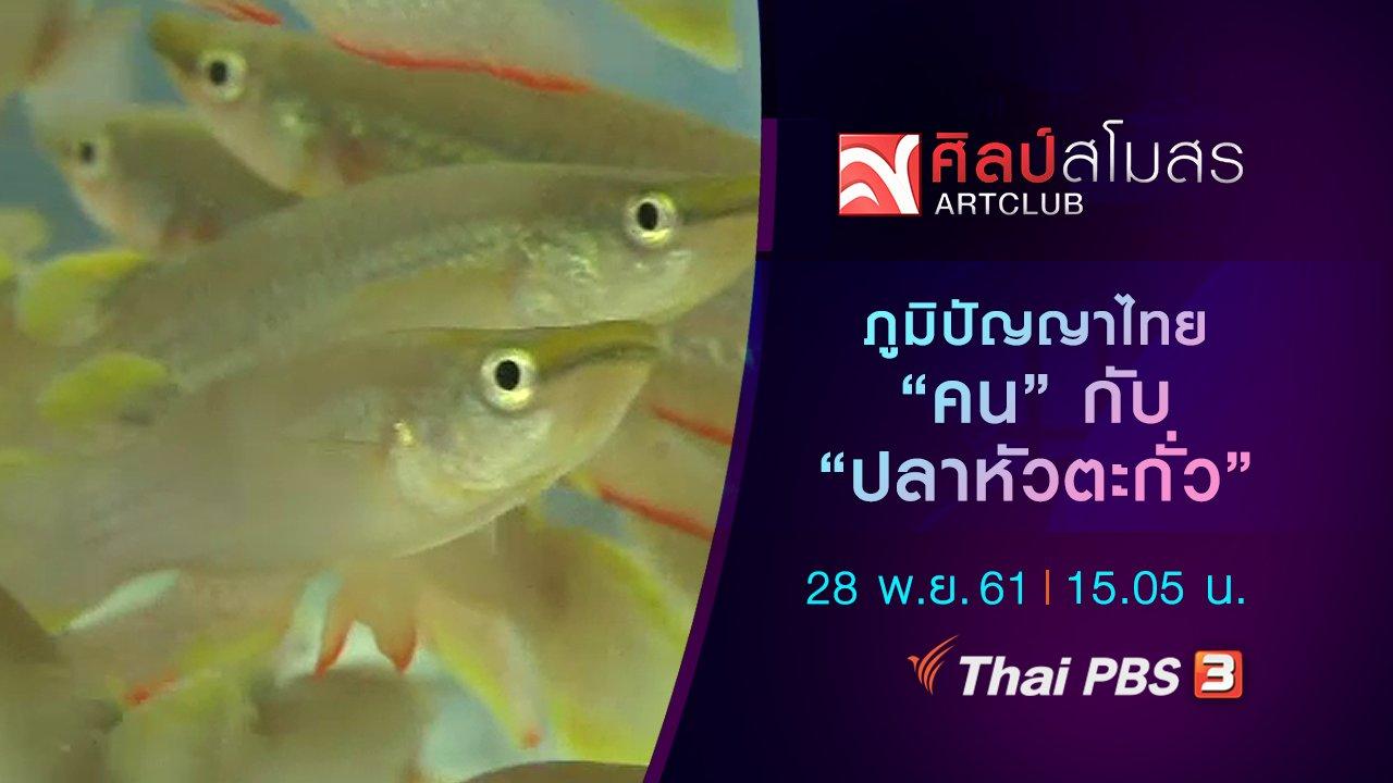 """ศิลป์สโมสร - ภูมิปัญญาไทย """"คน"""" กับ """"ปลาหัวตะกั่ว"""""""