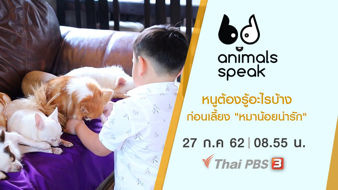 "Animals Speak - หนูต้องรู้อะไรบ้างก่อนเลี้ยง ""หมาน้อยน่ารัก"""