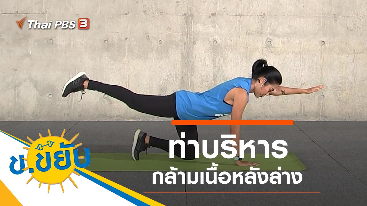 ข.ขยับ - ท่าบริหารกล้ามเนื้อหลังล่าง