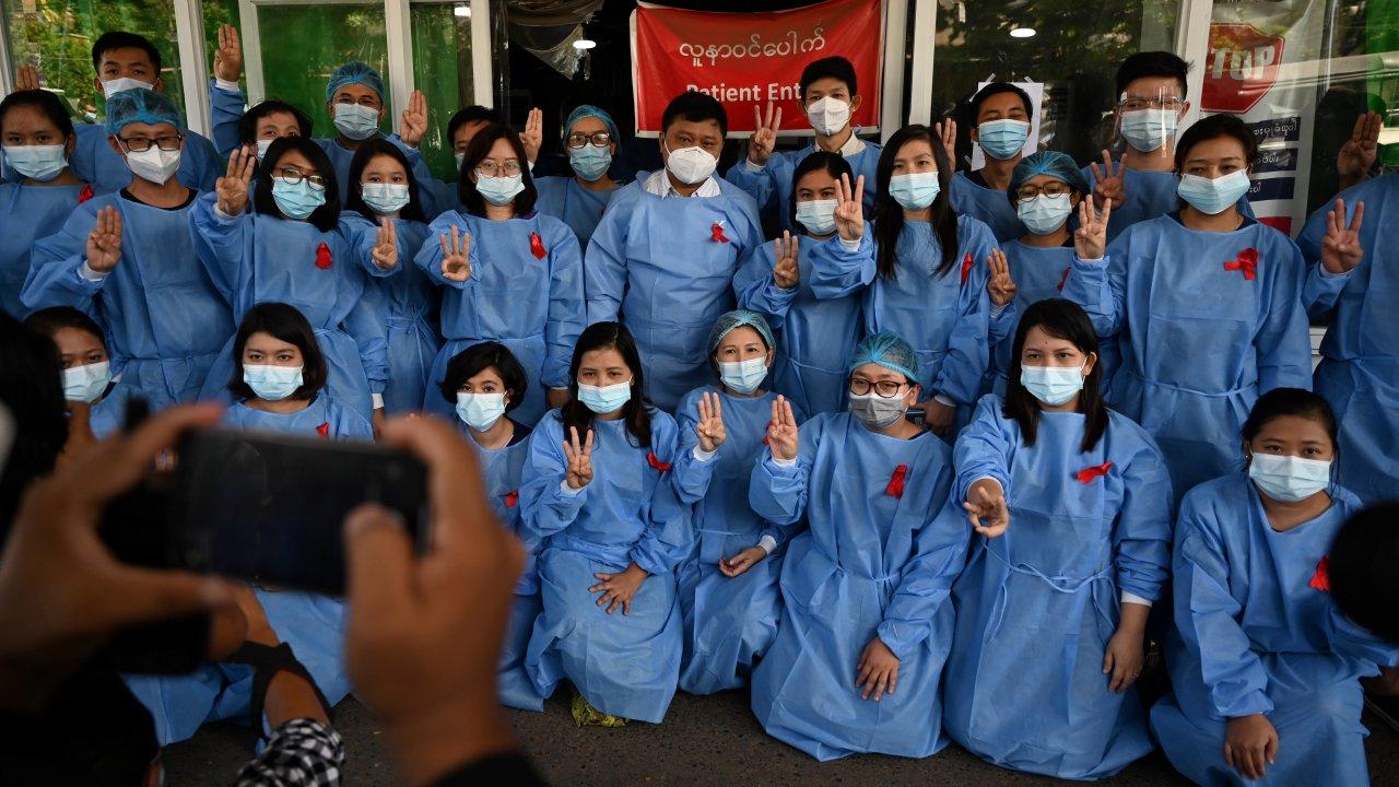 วิกฤตการเมืองเมียนมา - แพทย์ พยาบาล 70 โรงพยาบาล หยุดงานประท้วงที่เมียนมา