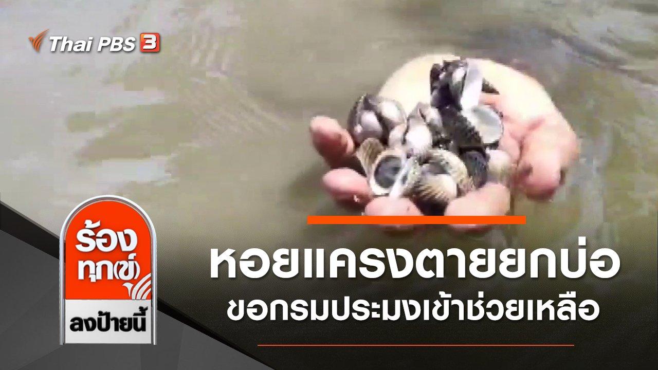 ร้องทุก(ข์) ลงป้ายนี้ - หอยแครงตายยกบ่อ ขอกรมประมงเข้าช่วยเหลือ จ.สมุทรสาคร