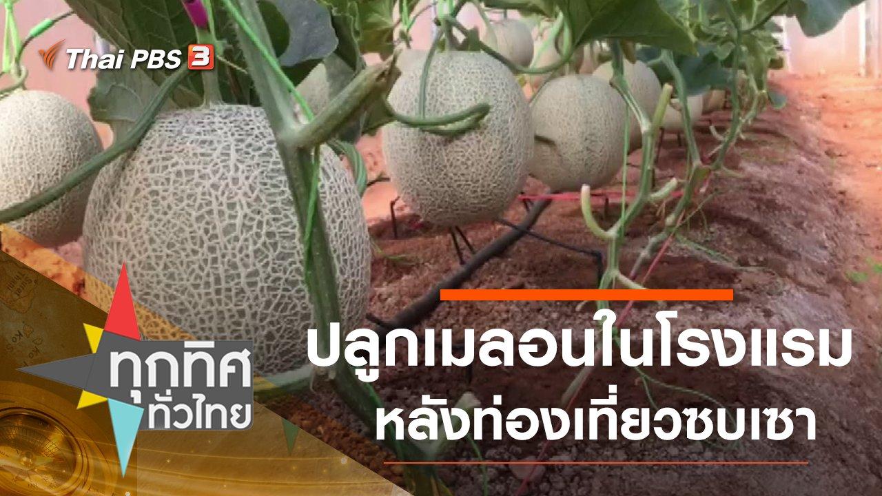 ทุกทิศทั่วไทย - ปลูกเมลอนในโรงแรมหลังท่องเที่ยวซบเซา