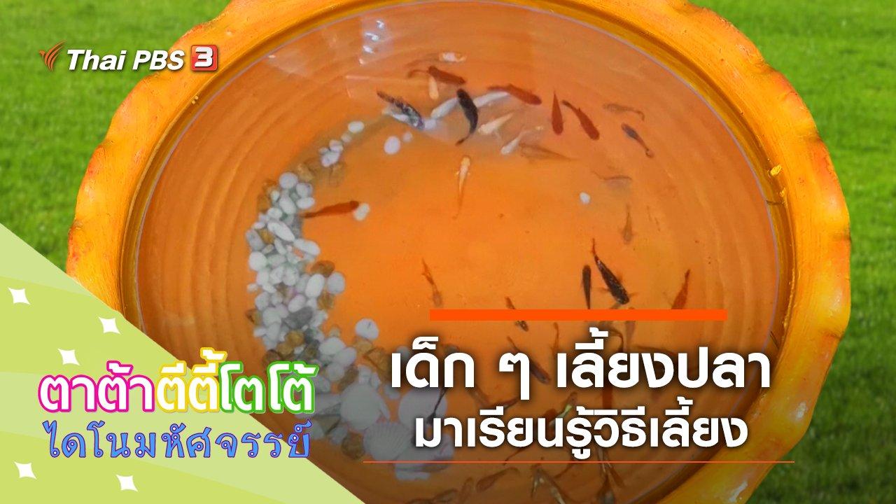TataTitiToto ไดโนมหัศจรรย์ - เด็ก ๆ เลี้ยงปลา
