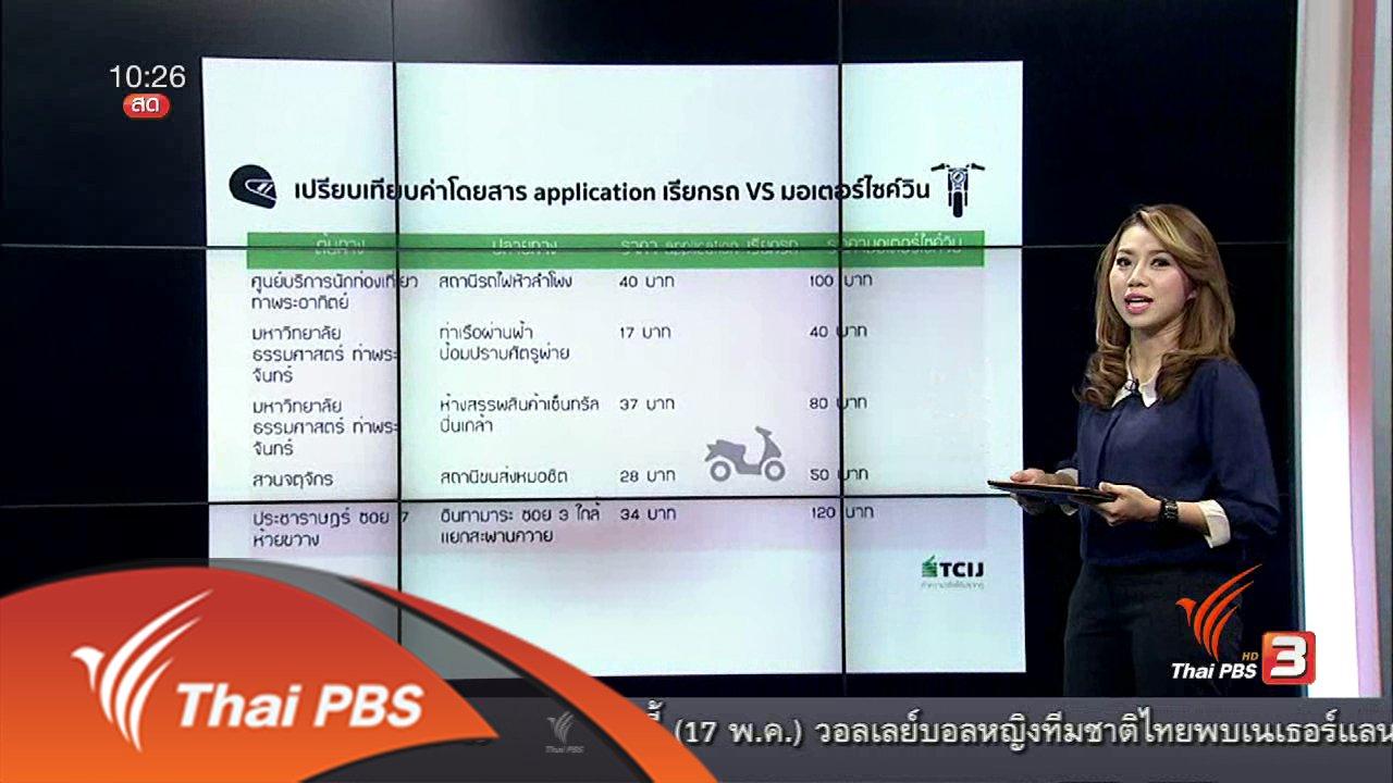 ชั่วโมงทำกิน - Social Biz : สำรวจส่วนต่างค่าบริการจักรยานยนต์รับจ้างทั่วไป-แอปพลิเคชัน