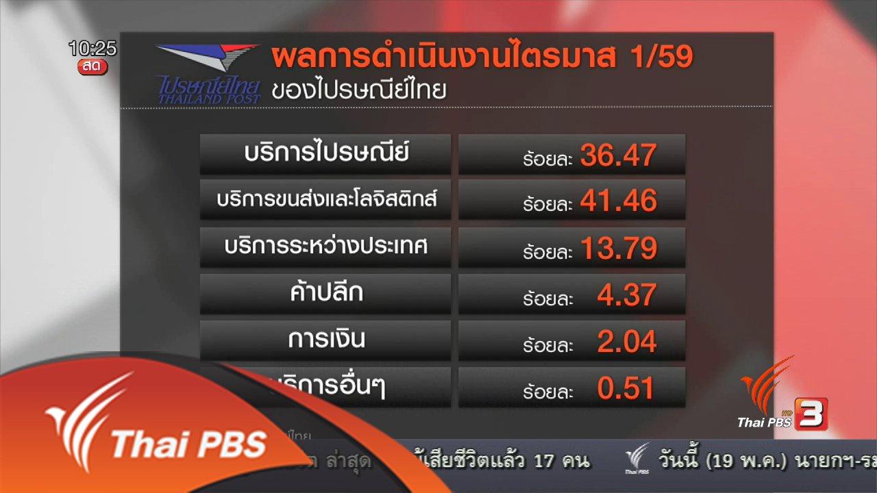 ชั่วโมงทำกิน - Social Biz : ไปรษณีย์ไทยปรับตัวรับอีคอมเมิร์ซโต