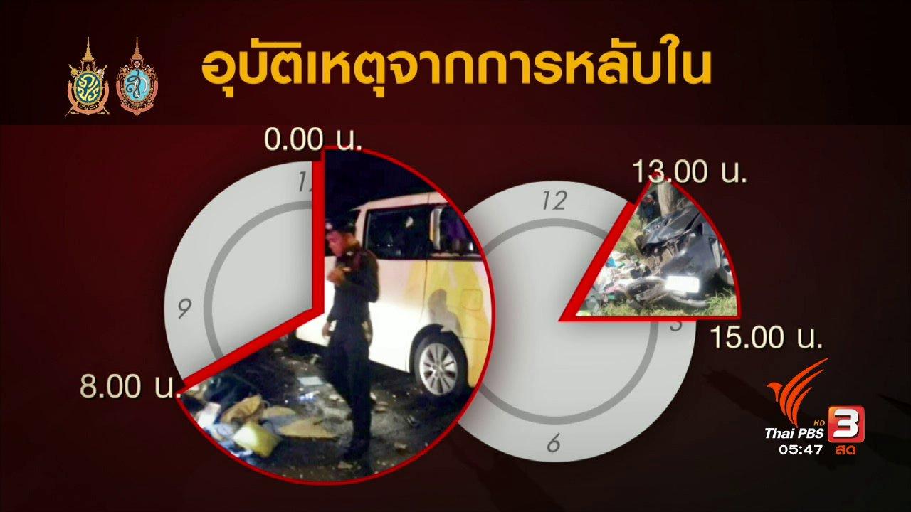 วันใหม่  ไทยพีบีเอส - 108 สุขภาพ : ป้องกันภาวะหลับในขณะขับรถ