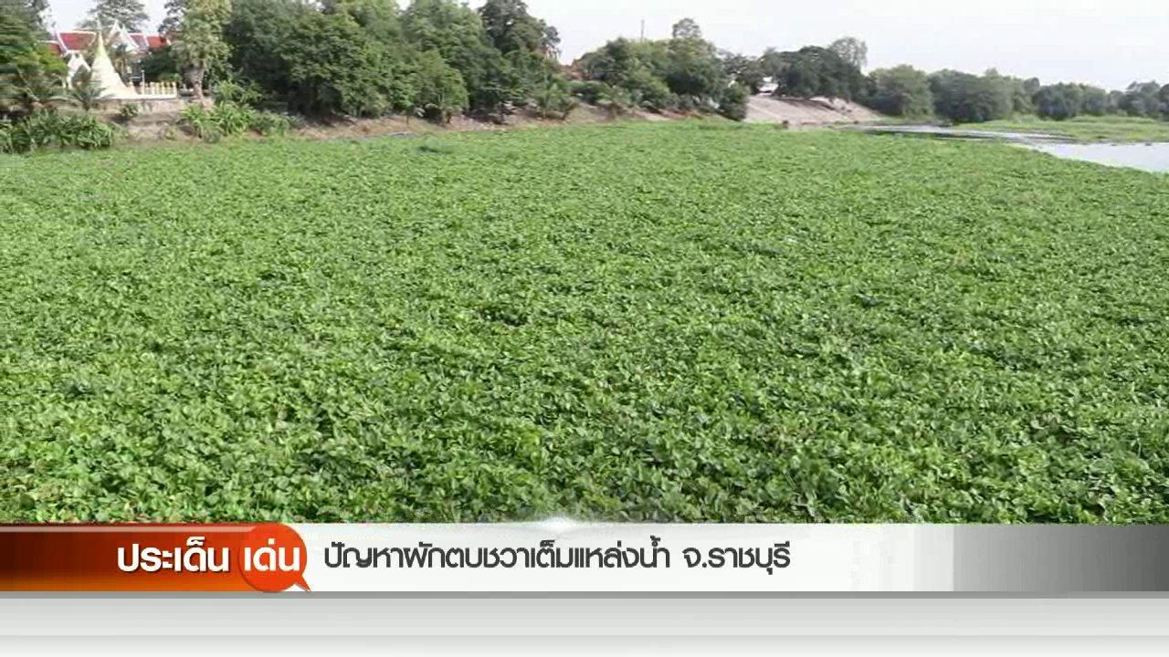 สถานีประชาชน - ปัญหาผักตบชวาเต็มแหล่งลำน้ำ จ.ราชบุรี