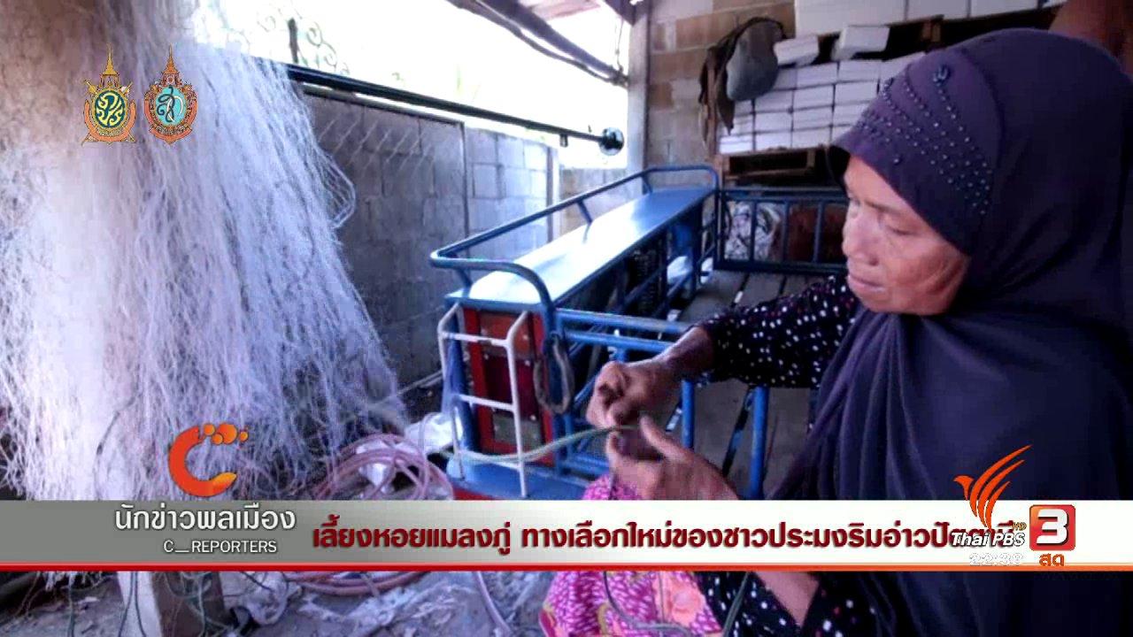 ที่นี่ Thai PBS - นักข่าวพลเมือง : เลี้ยงหอยแมลงภู่ ทางเลือกใหม่ของชาวประมงริมอ่าวปัตตานี