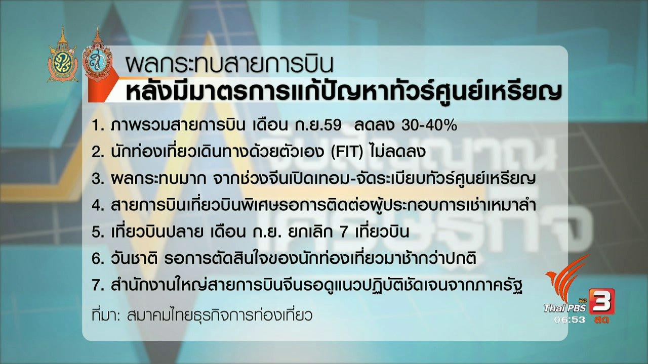 วันใหม่  ไทยพีบีเอส - จับสัญญาณเศรษฐกิจ :  ธุรกิจท่องเที่ยวเสนอแนวทางต่อรัฐ แก้ปัญหาทัวร์ศูนย์เหรียญ
