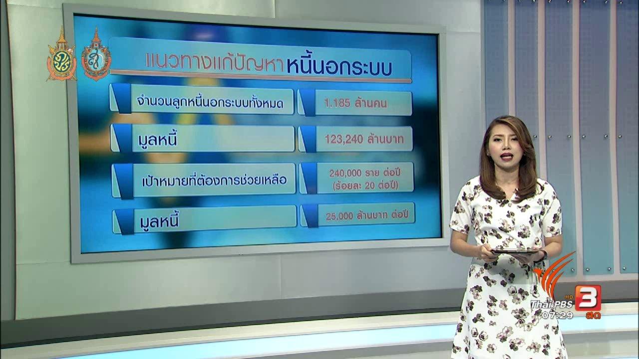 วันใหม่  ไทยพีบีเอส - จับสัญญาณเศรษฐกิจ :  รัฐออกมาตรการเร่งแก้ปัญหาหนี้นอกระบบ