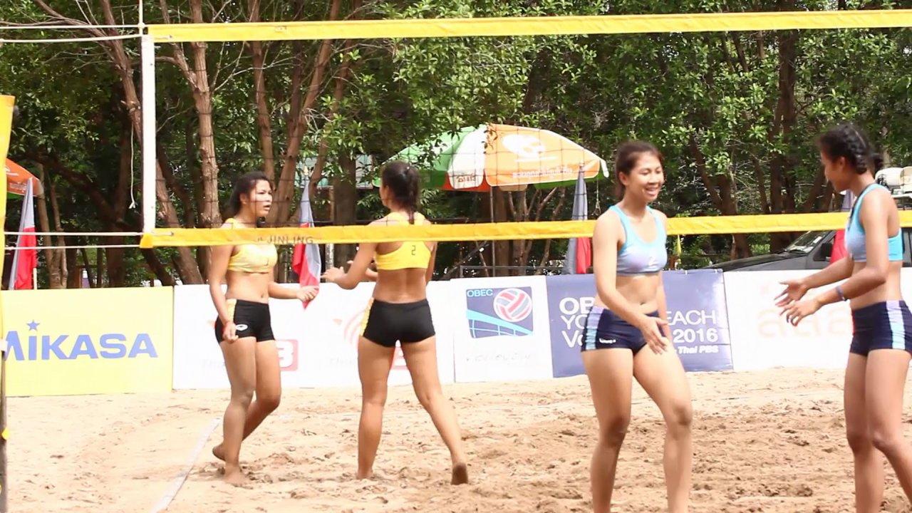 OBEC Young Beach Volleyball 2016 Inspired by Thai PBS - แนะนำผู้เข้าแข่งขัน OBEC Young Beach Volleyball 2016 คู่ชิงชนะเลิศรุ่น 18 ปีหญิง