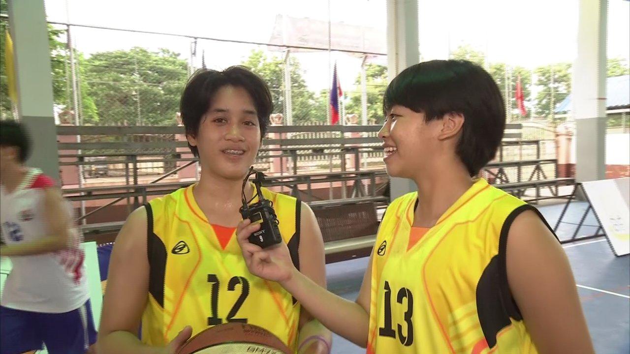 OBEC Youth Street Basketball 2016 Inspired by Thai PBS - พูดคุยกับน้องๆนักกีฬาสตรีทบาสรุ่น18ปีหญิงจากทีมโรงเรียน สตรีศึกษา จังหวัด ร้อยเอ็ด