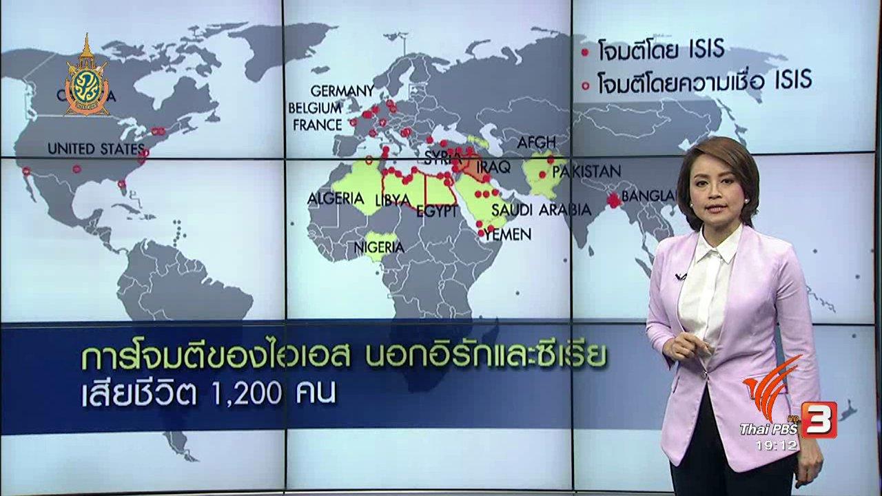 ข่าวค่ำ มิติใหม่ทั่วไทย - วิเคราะห์สถานการณ์ต่างประเทศ : มือระเบิดฆ่าตัวตายอินโดนีเซียเชื่อมโยง ไอเอส