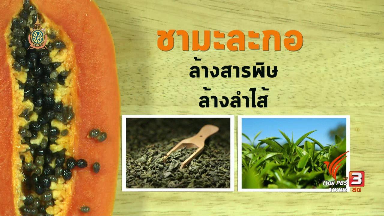 นารีกระจ่าง - อาหารเป็นยา : ประโยชน์ของมะละกอ