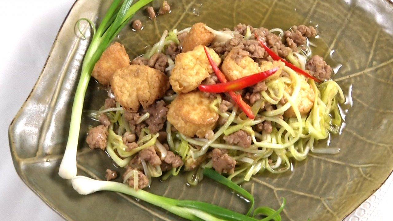 หม้อข้าวหม้อแกง - กุยช่ายขาวผัดเต้าหู้ไข่หมูสับ