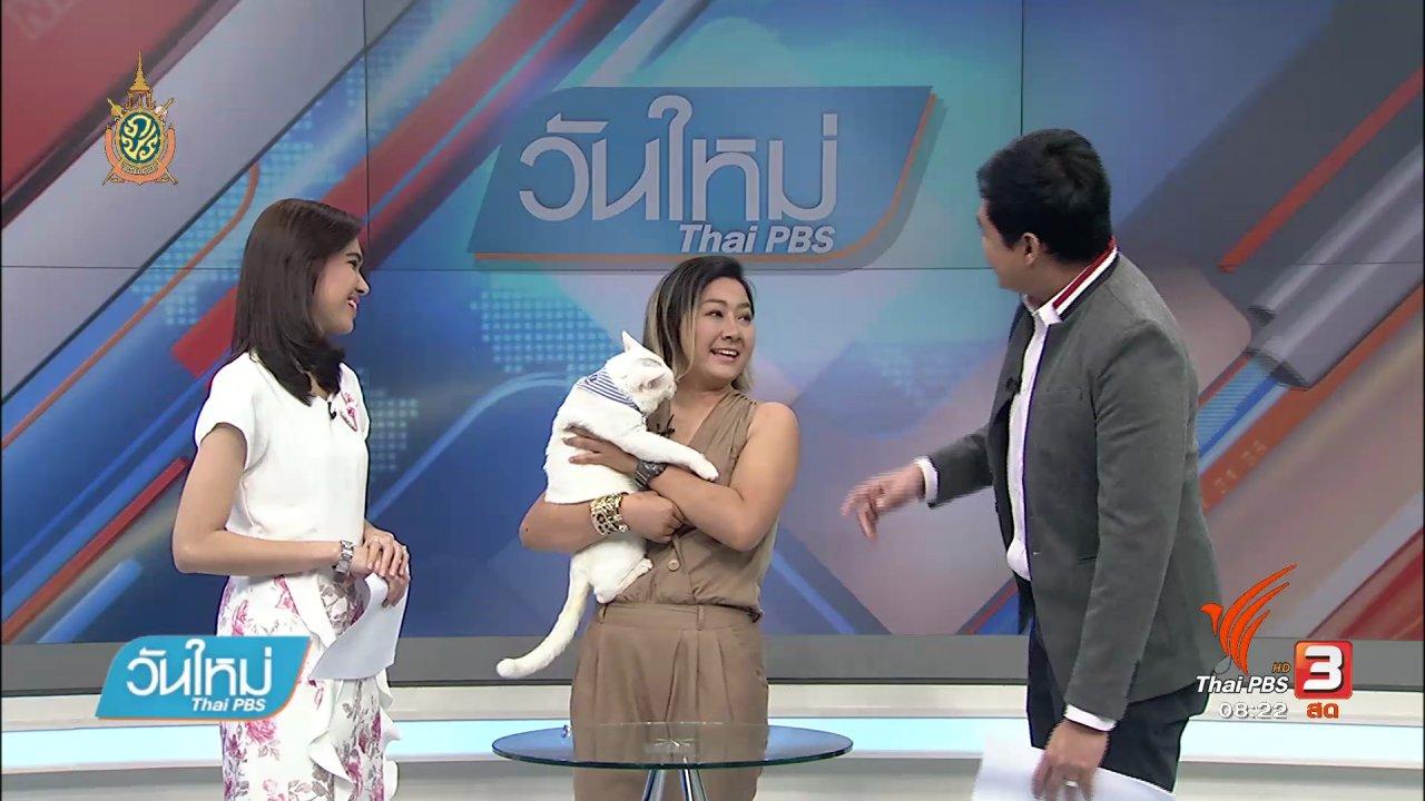 วันใหม่  ไทยพีบีเอส - บอกเล่าข่าวดี : กิจกรรมวิ่งนี้เพื่อแมวจร