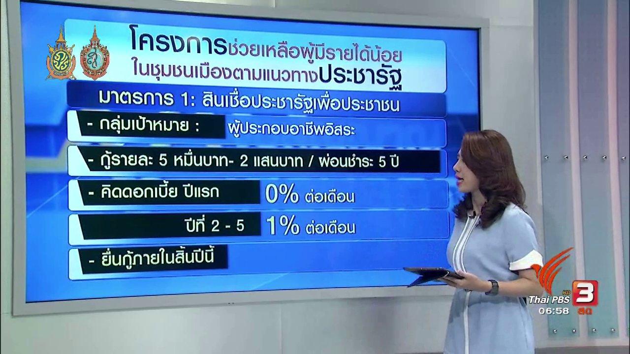 วันใหม่  ไทยพีบีเอส - จับสัญญาณเศรษฐกิจ : ฟื้นฟูเศรษฐกิจไทยผ่านสินเชื่อดอกเบี้ยต่ำ