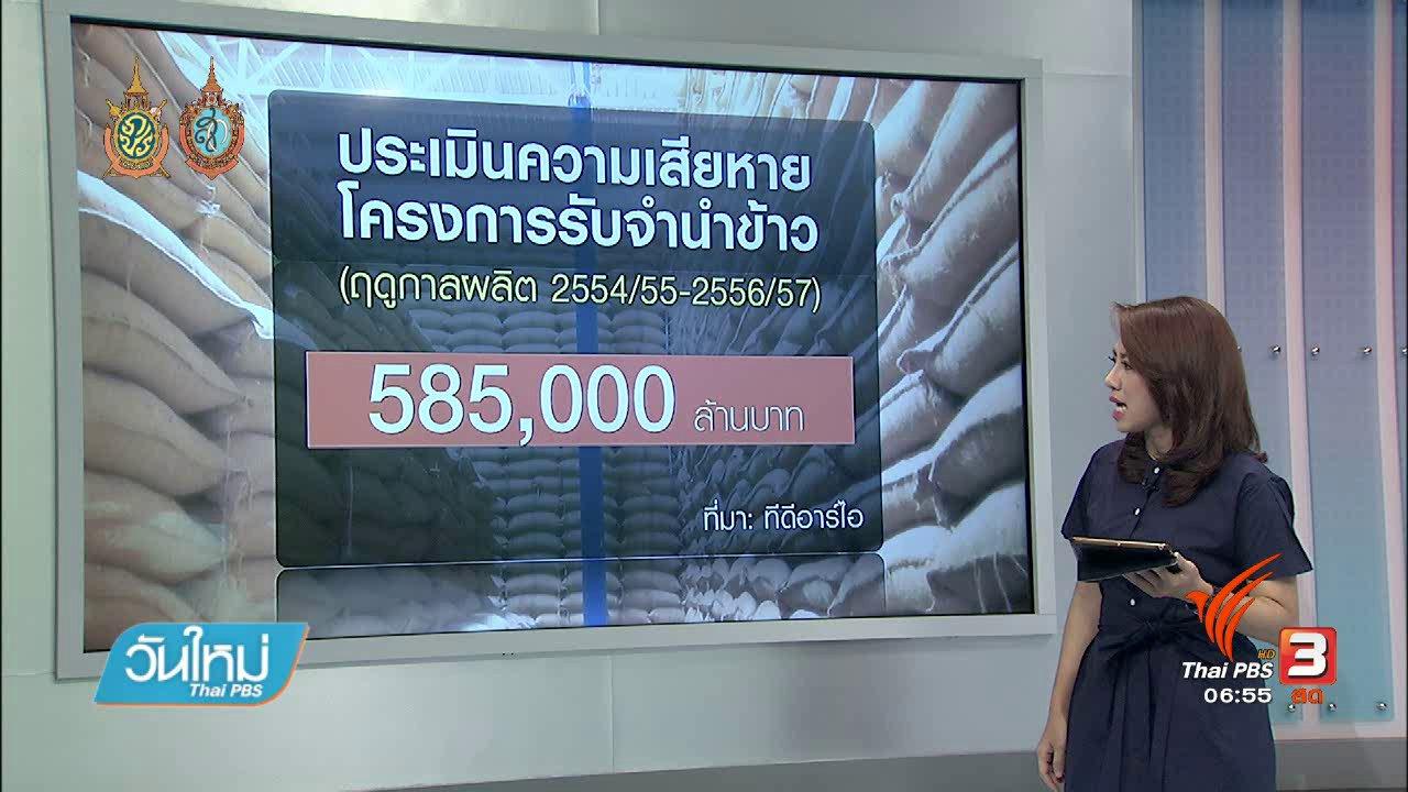 วันใหม่  ไทยพีบีเอส - จับสัญญาณเศรษฐกิจ : เส้นทางเรียกค่าเสียหายโครงการรับจำนำข้าว